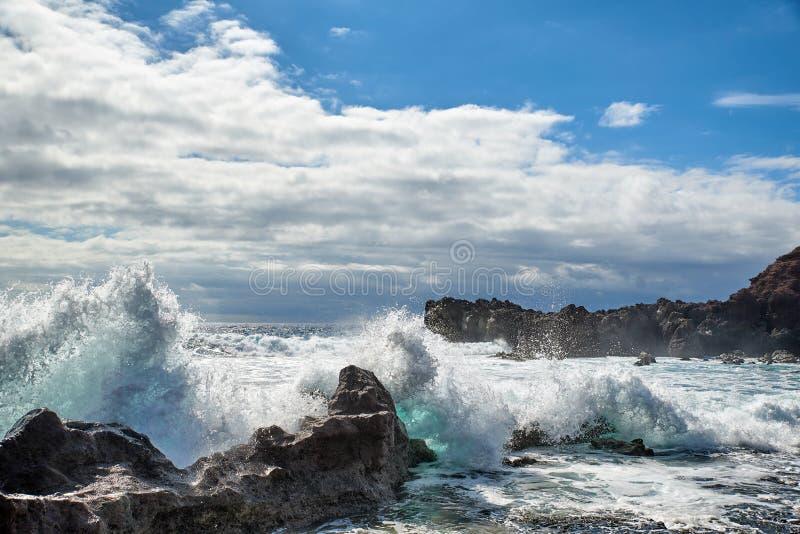 Lanzarote kust royalty-vrije stock afbeelding