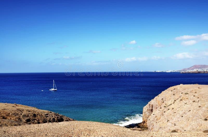 Lanzarote kustlijn royalty-vrije stock foto
