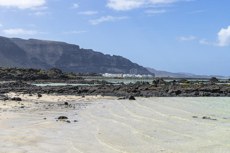Download Lanzarote landscapes stock photo. Image of canary, boats - 53402598