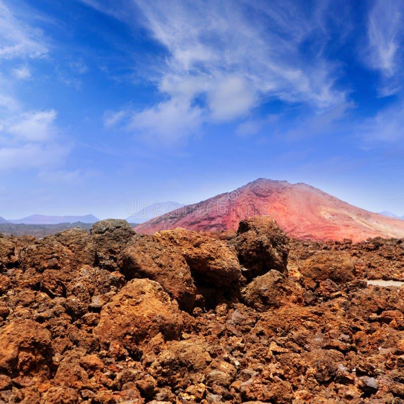 Lanzarote Montana Bermeja Red Mountain Royalty Free Stock Photo