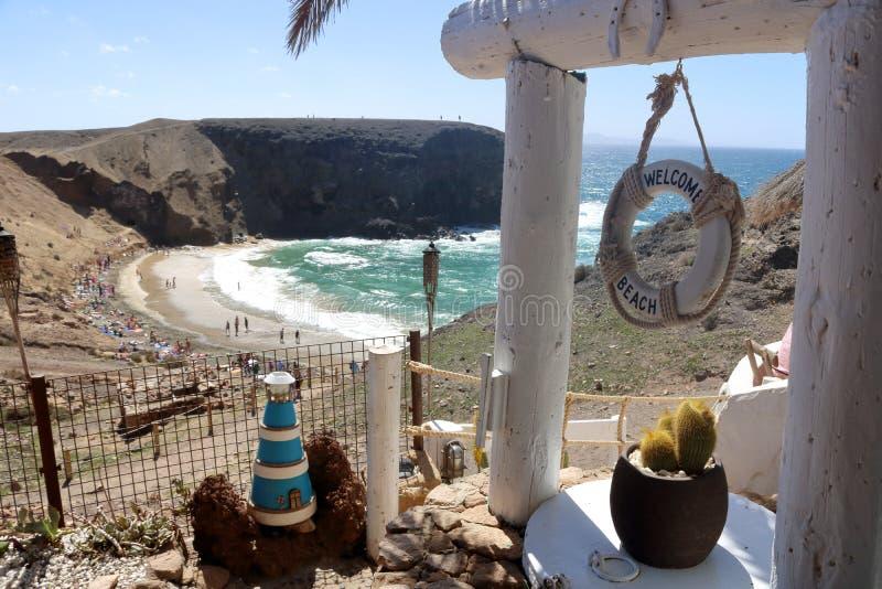 Lanzarote nos Canaries foto de stock