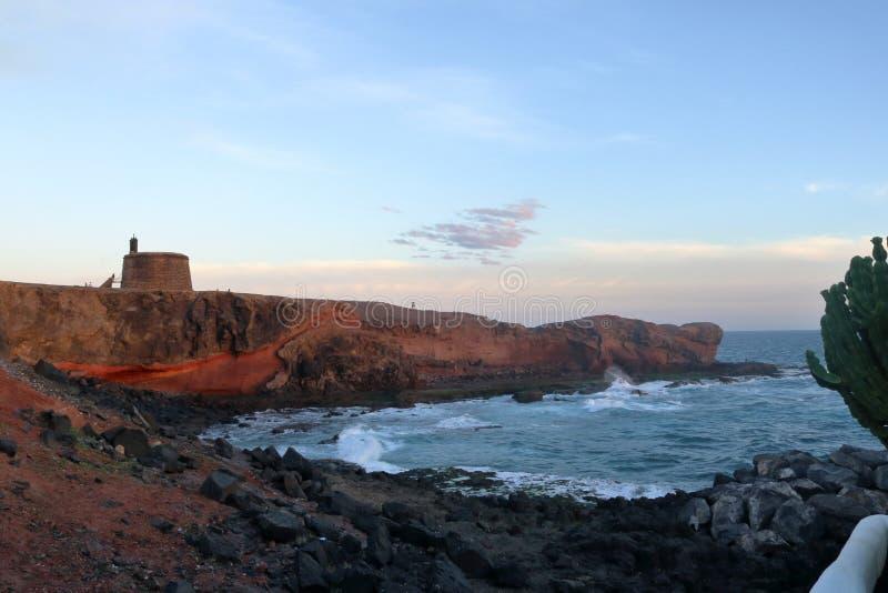 Lanzarote op de Canarische Eilanden stock afbeeldingen