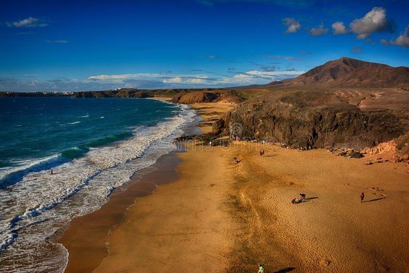 Lanzarote, Papagayo royalty-vrije stock foto's