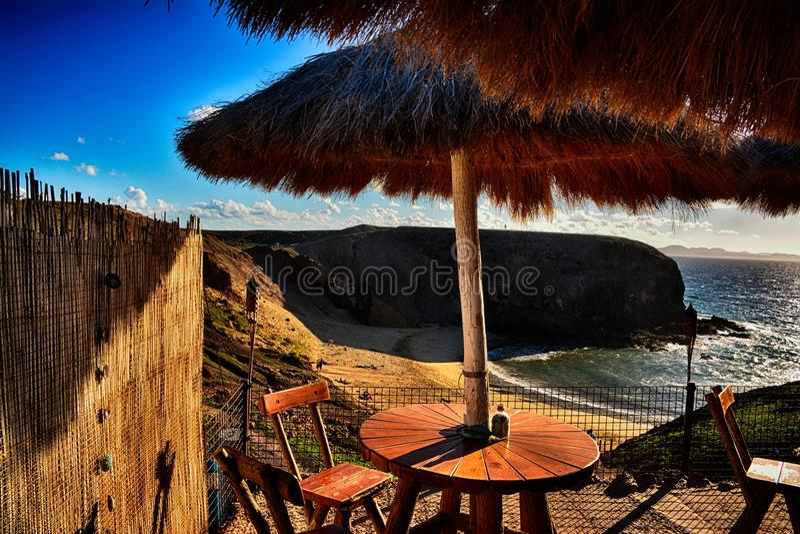 Lanzarote, Papagayo stock afbeelding