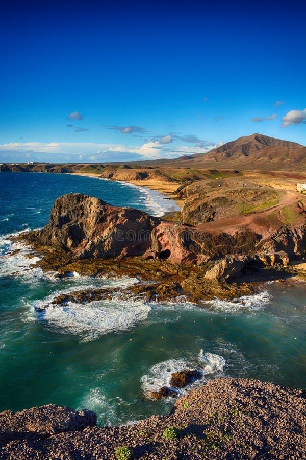 Lanzarote, Papagayo royalty-vrije stock fotografie