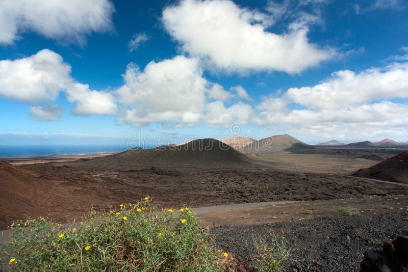 Lanzarote, parque nacional de Timanfaya fotos de archivo libres de regalías