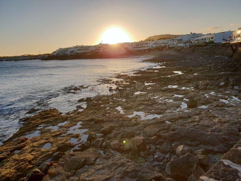 Lanzarote Playa Blanca arkivbild