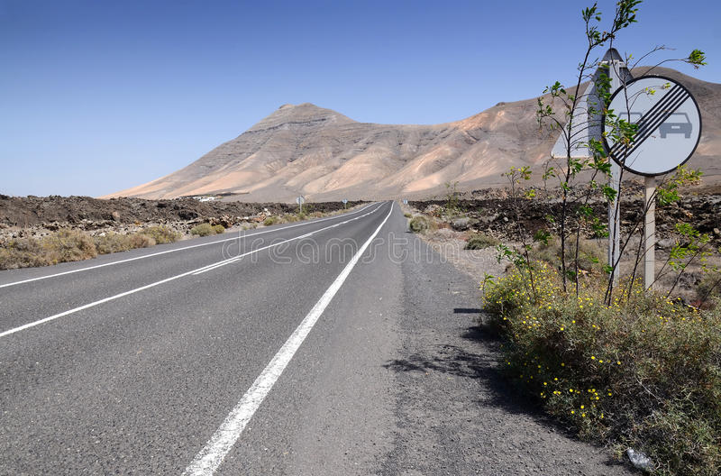Download Lanzarote's Hi-way Royalty Free Stock Photography - Image: 24020927