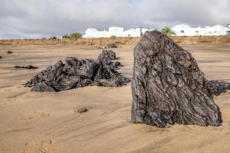Lanzarote - Spain. Beaches on the Canary island of Lanzarote - Spain stock photography