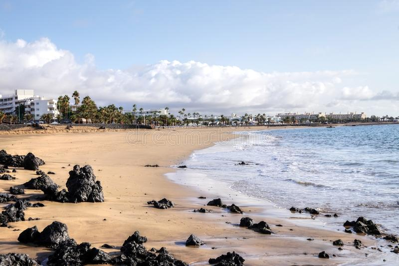 Lanzarote - Spain. Beaches on the Canary island of Lanzarote - Spain royalty free stock photography