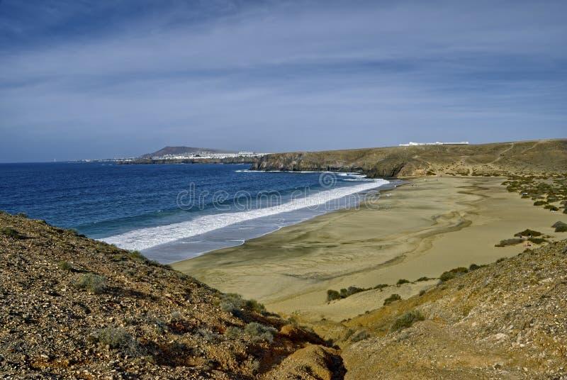 Lanzarote strand stock fotografie