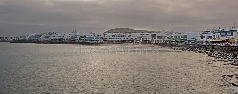 Lanzarote strand, hoofdstraat royalty-vrije stock foto