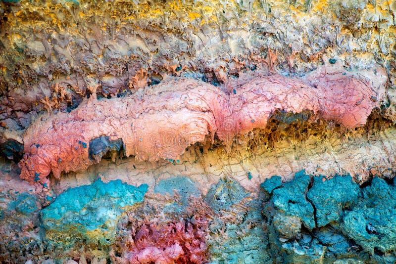 Lanzarote Timanfaya färgrik lavasten arkivfoton
