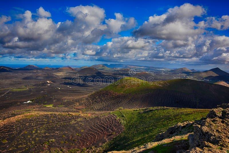 Lanzarote, Vulkanen royalty-vrije stock afbeelding
