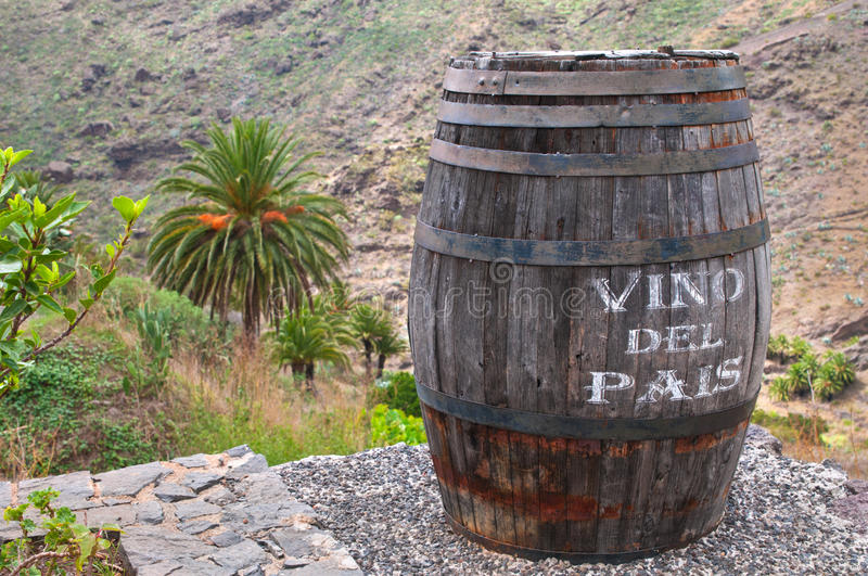 Download Lanzarote Wine Against Volcanic Landscape Stock Photo - Image: 18973732