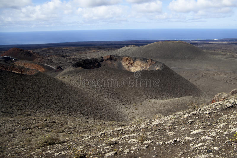 lanzarote wulkany Spain obrazy stock