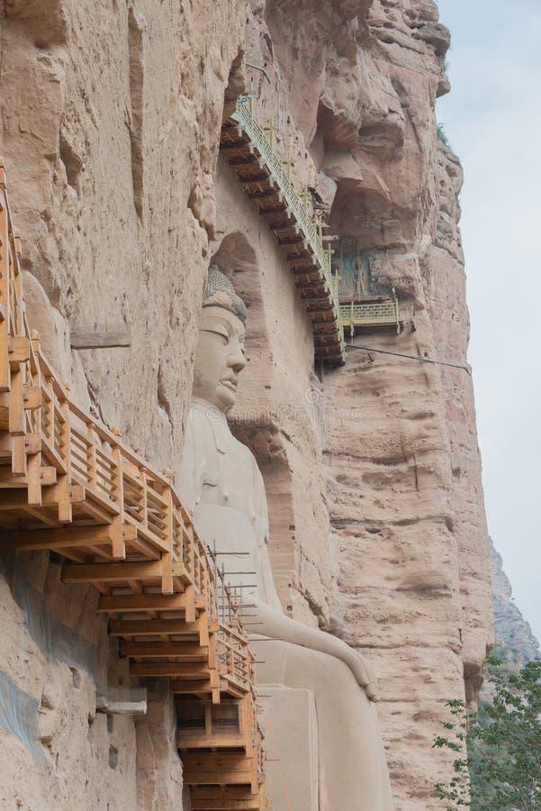 LANZHOU, CHINA - 30 SEP 2014: De Standbeelden van Boedha bij Bingling-Hol Te royalty-vrije stock fotografie
