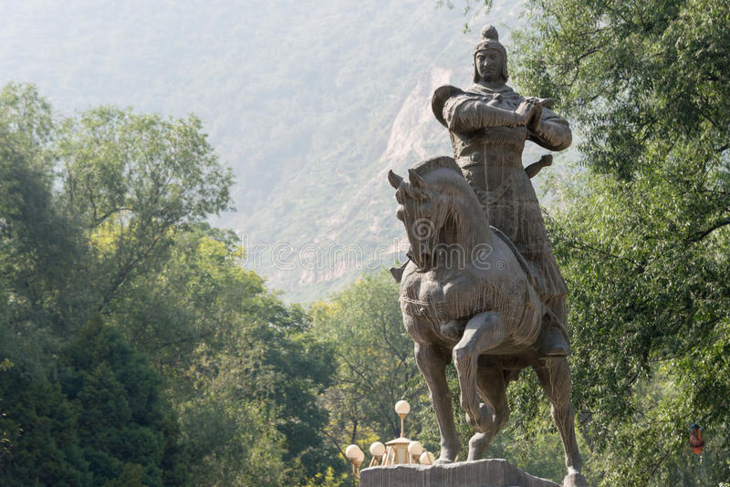 LANZHOU, CHINA - 29 SEP 2014: Standbeeld van Huo Qubing, Lanzhou, Gan royalty-vrije stock foto's
