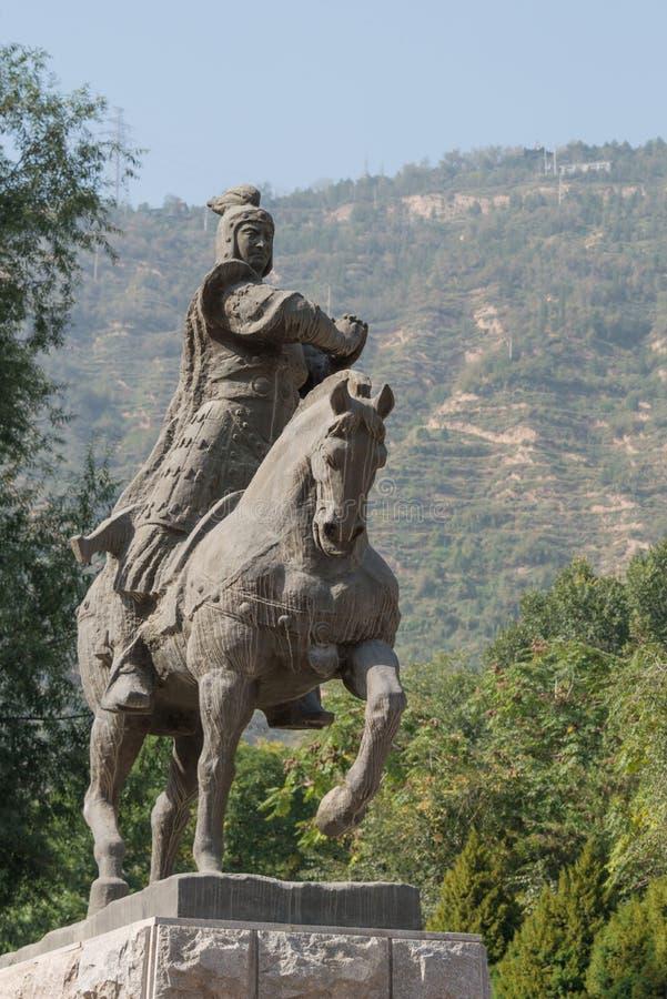 LANZHOU CHINY, SEP, - 29 2014: Statua Huo Qubing, Lanzhou, Gan zdjęcie stock