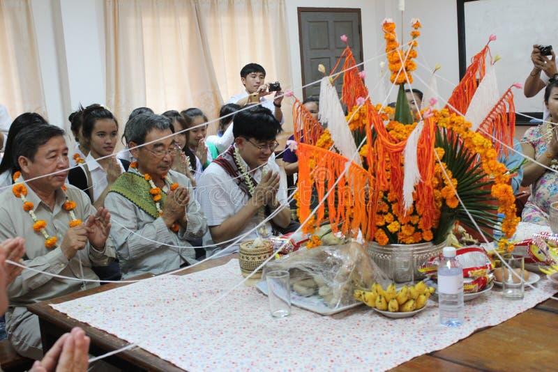 Lao BaCi lizenzfreie stockfotos