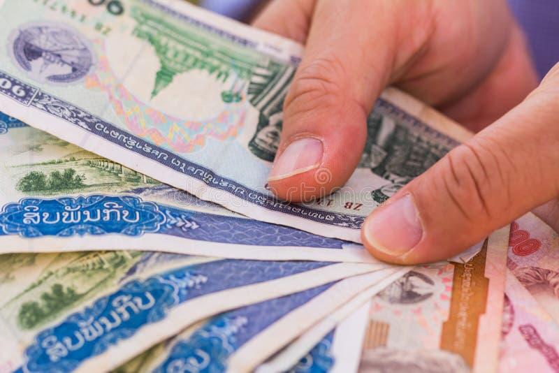 Lao Banknotes immagini stock
