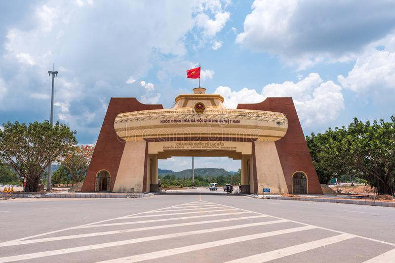 Lao Bao, Vietnam: The gate on Vietnam - Laos border stock image