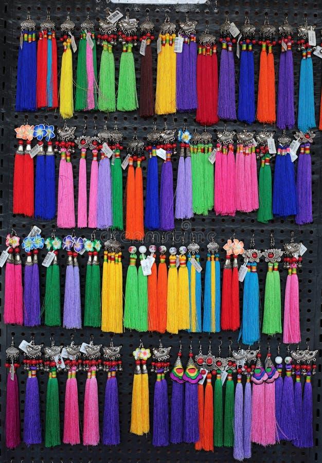 Lao Craft Necklaces From Luang feito a mão Prabang fotos de stock royalty free