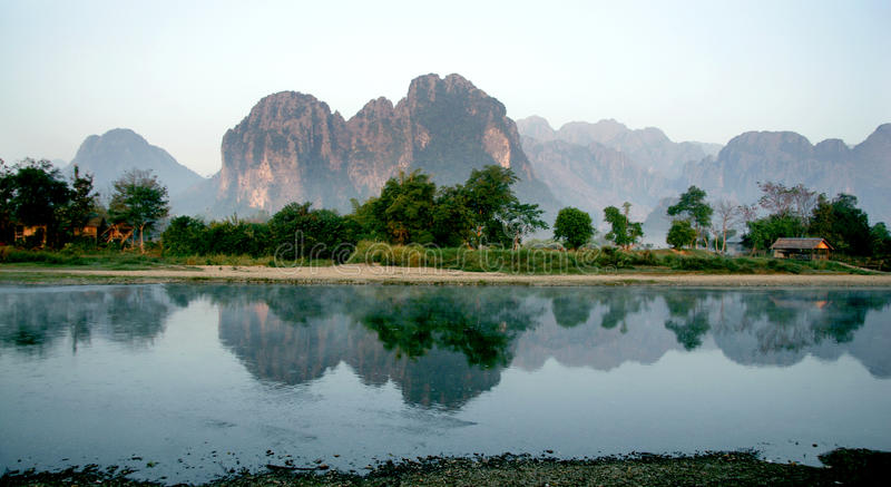 Lao Lanscape stock fotografie