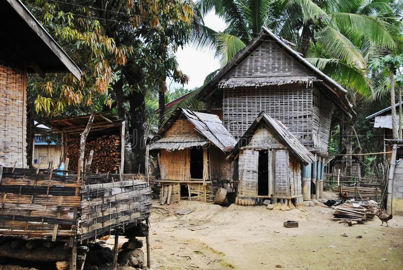 Lao Village royalty free stock image