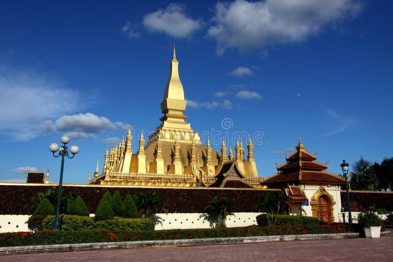 lao złota stupa Vientiane zdjęcia stock