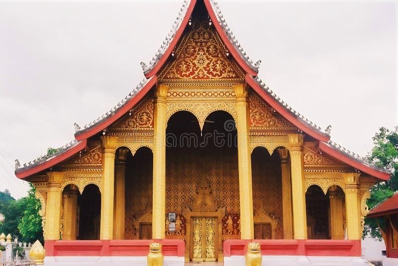 laoatian寺庙 免版税库存图片