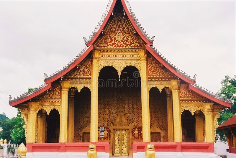 Laoatian Temple royalty free stock image