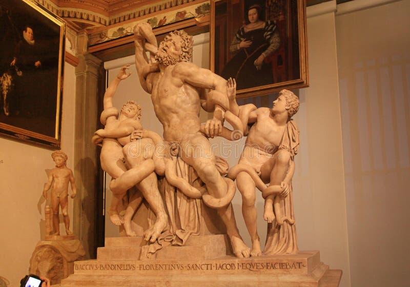 Laocoon και οι γιοι του στη στοά Uffizi στοκ εικόνα