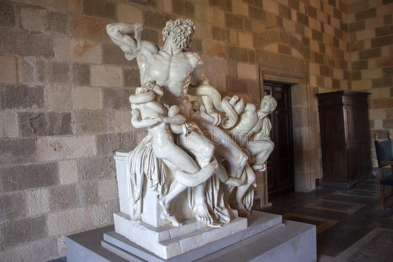 Laocoon, Griekse en Roman mythologie stock foto