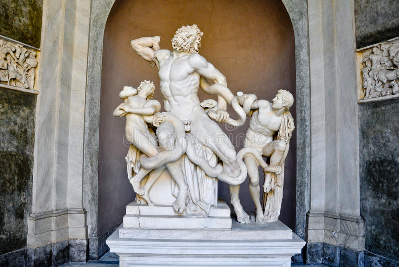 Laocoon and his sons in the Vatican royalty free stock image
