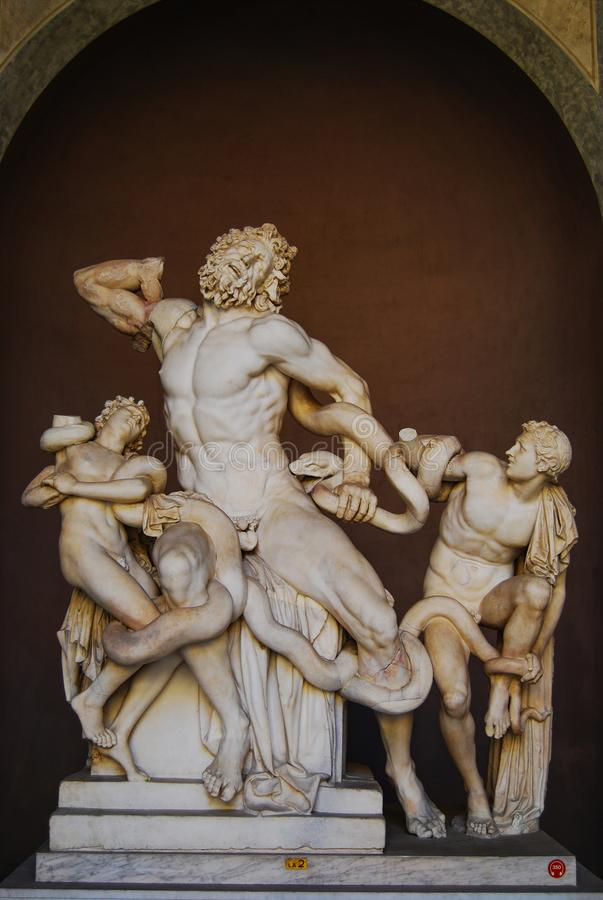 Laocoon and his sons, Vatican museum, Vatican city, Italy royalty free stock images