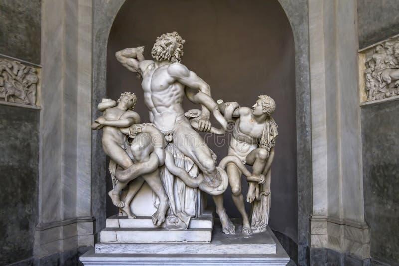 Laocoon y sus dos hijos, Ciudad del Vaticano imagen de archivo