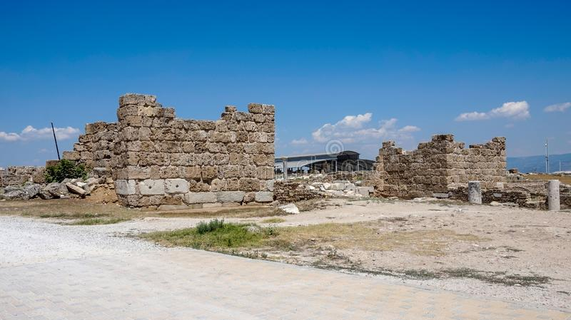 Ancient Greek City Ruins, Laodikeia stock photo