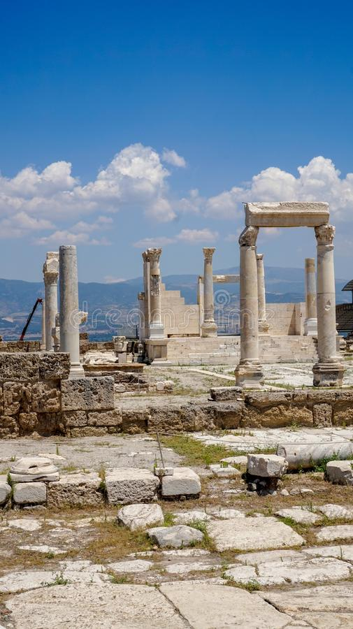 Ancient Greek City Ruins, Laodikeia. Laodikeia is situated in an excellent geographical location on the south side of the Lycus River, 6 km north of Denizli. The royalty free stock photography