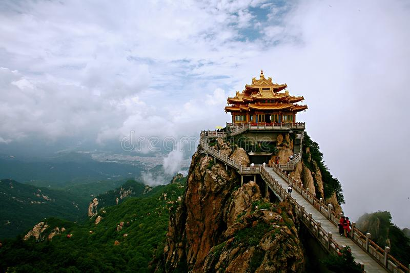 Laojun Mountain in Luoyang. The Laojun Mountain, formerly known as the king room mountain, is located 3 kilometers southeast of Luanchuan County town, Luoyang stock image