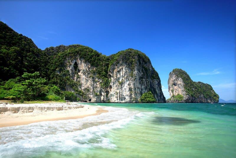 Laoliang海滩,有Samran,董里府,泰国 库存图片