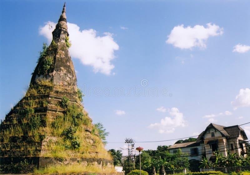 laos świątyni vientienne ruin zdjęcie stock