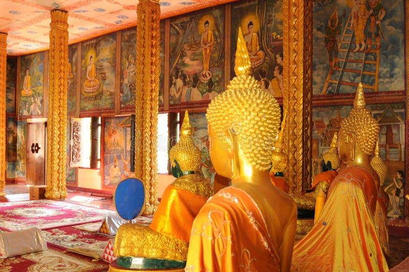 Laos: świątynia przy Indochina dużą szkołą wyższa obraz stock