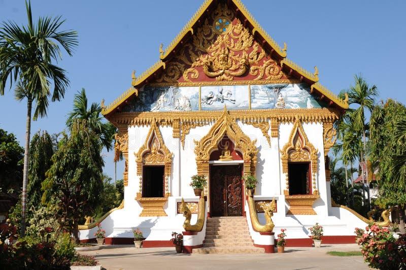 Laos: ` Champasak ` Buddyjska szkoła wyższa w Pakse obrazy stock