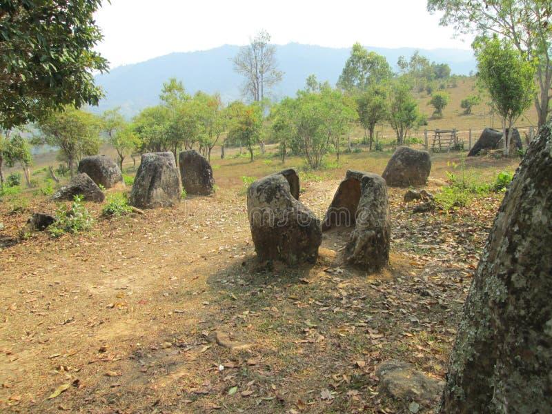 Laos, de Vallei van de Kruik stock afbeeldingen