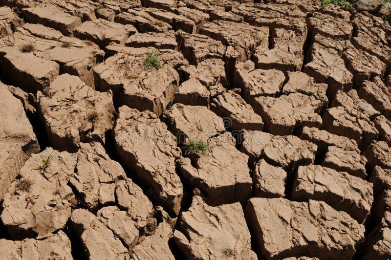 Laos: Dry earth at the Mekong River near Luang Brabang royalty free stock image