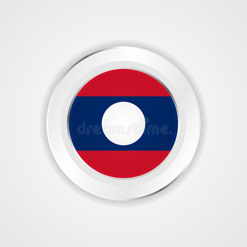 Laos flag in glossy  icon. royalty free illustration