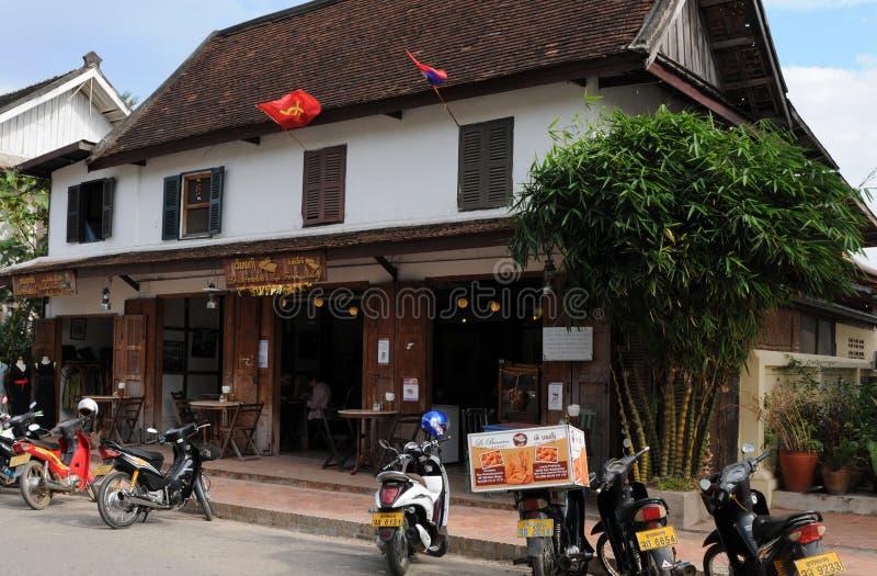 Laos: Französische Bäckerei in Luang Prabang lizenzfreie stockfotos