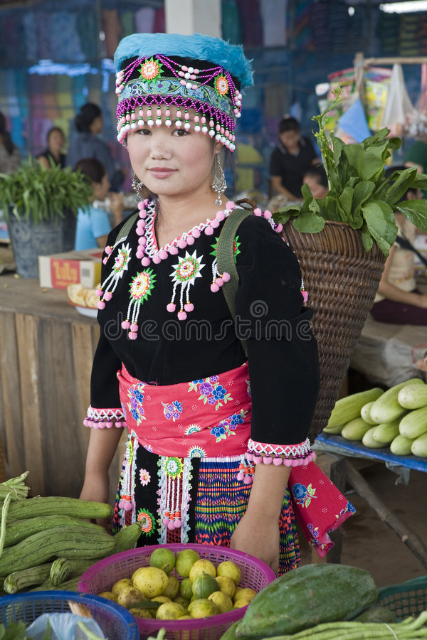 Laos hmong kobieta fotografia royalty free