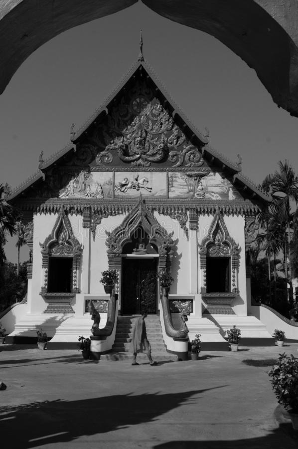 Laos: Indochina's grootste Theravada-Boeddhistische College in Pakse royalty-vrije stock afbeeldingen